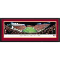 Blakeway Panoramas Christopher Gjevre 'Virginia Tech - Football - End Zone' Framed Print