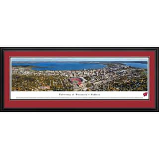 Blakeway Panoramas Wisconsin Campus Aerial View Multicolored Framed Print|https://ak1.ostkcdn.com/images/products/12492275/P19301985.jpg?impolicy=medium