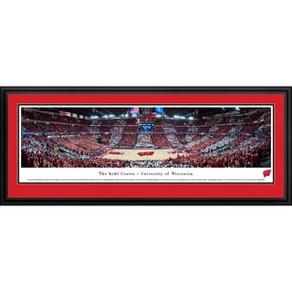 Blakeway Panoramas Wisconsin Basketball Framed Print