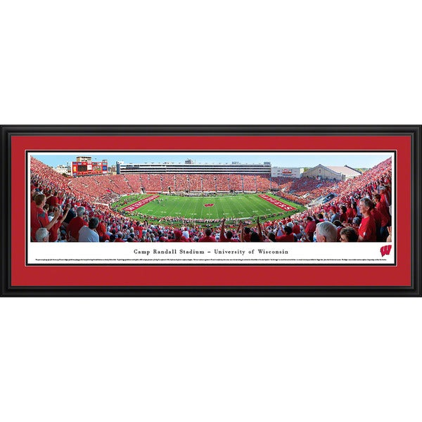 Blakeway Panoramas View from the 50-yard Line at Camp Randall Stadium - University of Wisconsin Framed Print