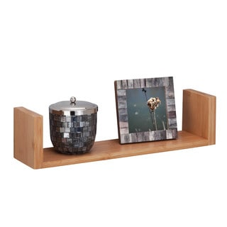 "wall ledge shelf 15.75"", bamboo"