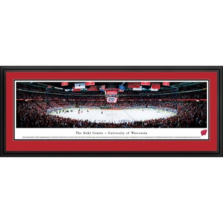 Blakeway Panoramas Wisconsin Campus Hockey Tempered Glass Framed Print
