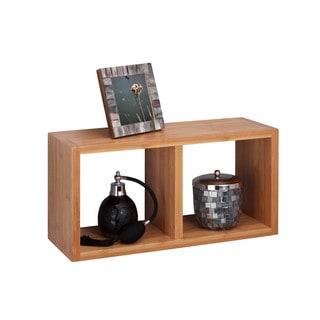 Bamboo double cube wall shelf