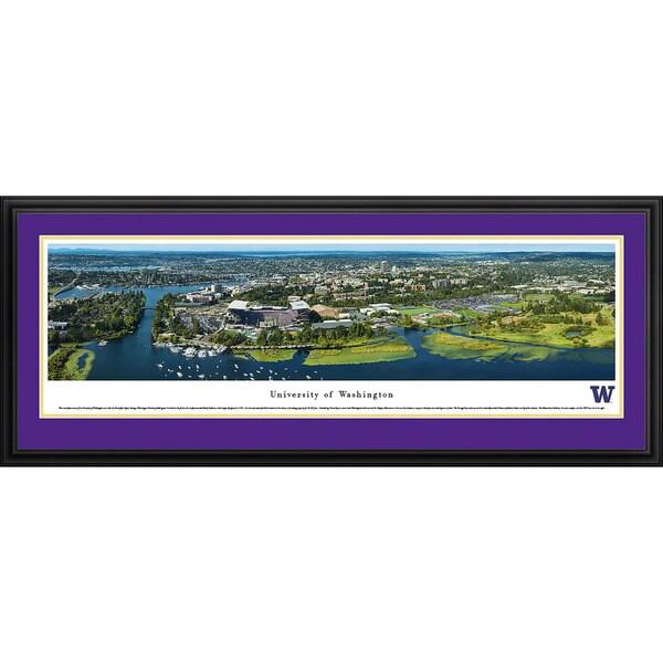 Blakeway Panoramas University of Washington Campus Aerial Framed Print
