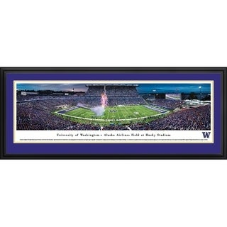 Blakeway Panoramas University of Washington Campus Aerial Framed Print (3 options available)