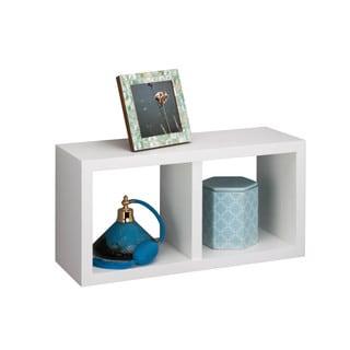 White double cube wall shelf