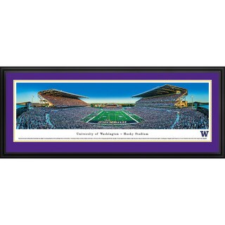 Washington Huskies Football Blakeway Panoramas Framed Print