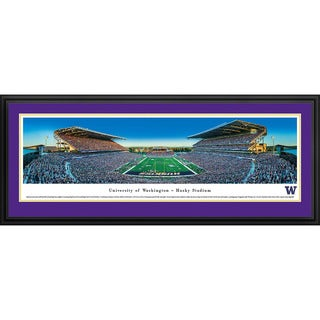 Washington Huskies Football Blakeway Panoramas Framed Print (3 options available)