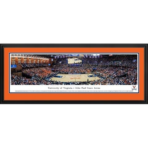 Blakeway Panoramas Virginia Basketball Framed Print
