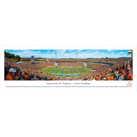 Blakeway Panoramas Virginia Football Framed Print