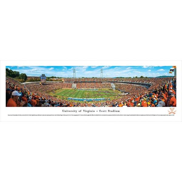 Blakeway Panoramas Virginia Football '50 Yard Line' Framed Print
