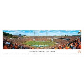 Blakeway Panoramas Virginia Football '50 Yard Line' Framed Print (3 options available)