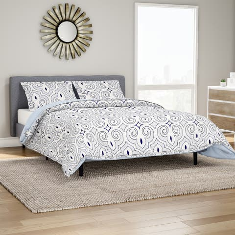 Miranda Haus Clarendon Reversible Cotton Duvet Cover Set