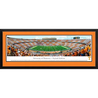 Blakeway Panoramas Checkerboard Tennessee Football Framed Print