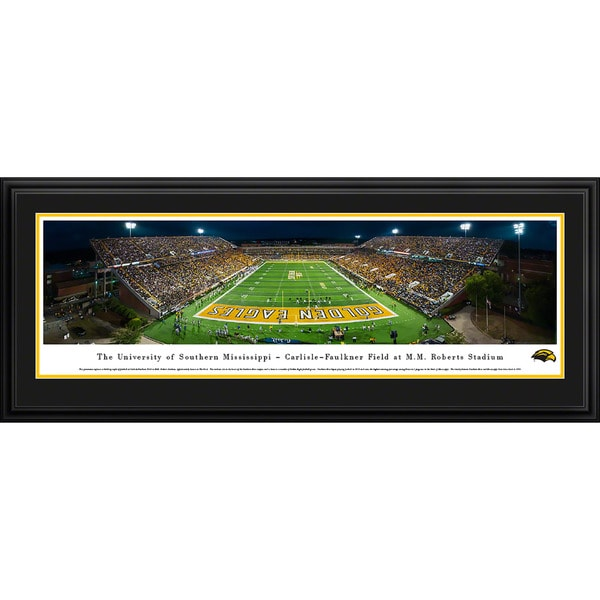 Blakeway Panoramas Southern Mississippi Football Framed Print