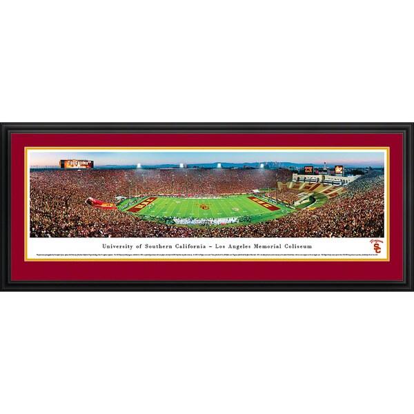 Blakeway Worldwide Paonramas USC Trojans Football 50-yard Line Framed Print