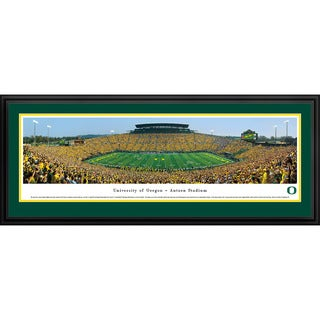 Blakeway Panoramas Oregon Football '50 Yard Day' Framed Print