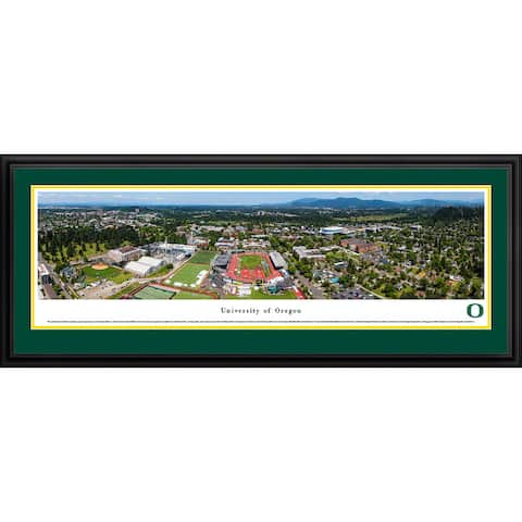Blakeway Panoramas Oregon Football Framed Print