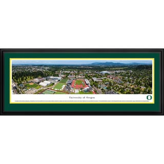 Blakeway Panoramas Oregon Football Aerial Framed Print