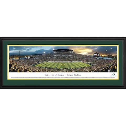 Blakeway Panoramas Framed Oregon Football Print