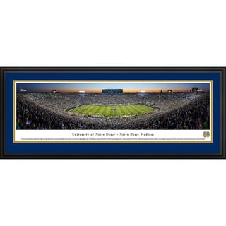 Blakeway Panoramas '50 Yard Line Twilight' Notre Dame Football Framed Print
