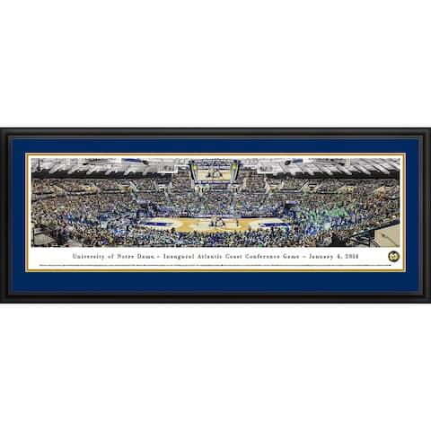 Blakeway Panoramas Notre Dame Basketball Framed Print