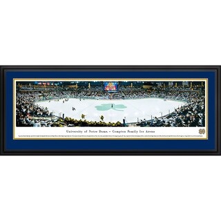 Blakeway Panoramas Notre Dame Hockey Framed Print