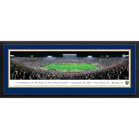 Blakeway Panoramas Notre Dame Football Framed Print