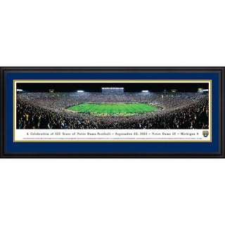 Blakeway Panoramas Notre Dame Football 125th Anniversary Framed Print