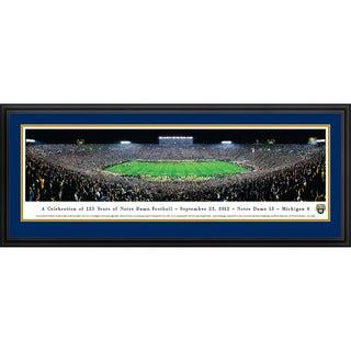 Blakeway Panoramas Notre Dame Football 125th Anniversary Framed Print