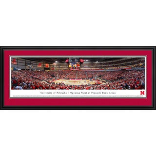 Blakeway Panoramas Nebraska Basketball Aluminum/Wood Framed Print