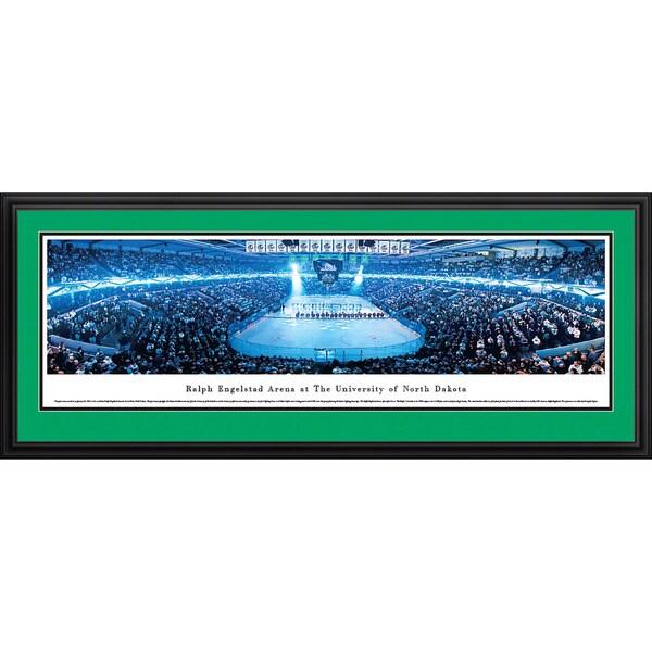 Blakeway Panoramas North Dakota Hockey Anthem Panoramic Framed Print