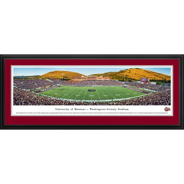 Blakeway Panoramas 'Montana Football' Framed Print
