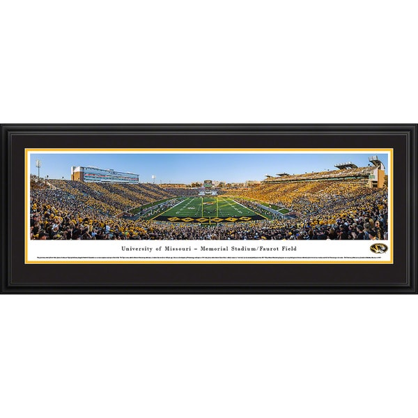 Blakeway Panoramas Missouri Football End Zone Framed Print