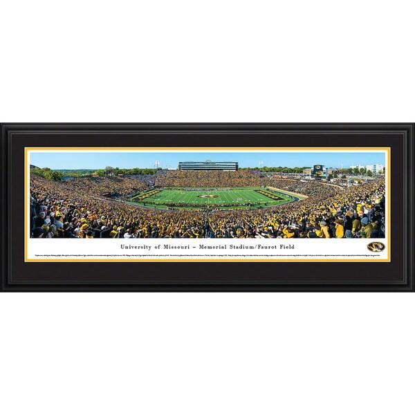 Blakeway Panoramas Missouri Football '50 Yard Line Day' Framed Print