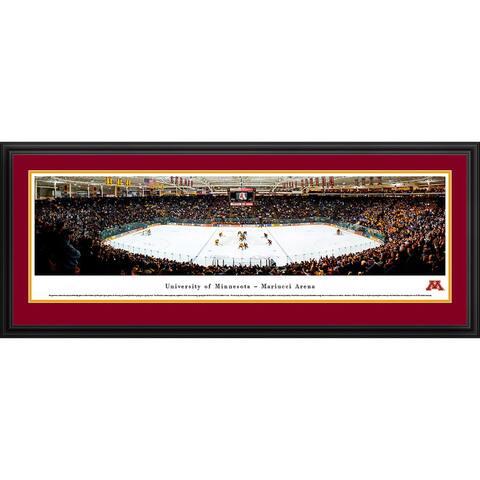 Blakeway Panoramas Minnesota Hockey Framed Print