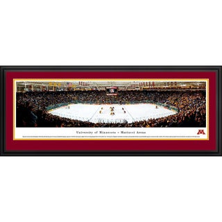 Blakeway Worldwide Panoramas Mariucci Arena on the University of Minnesota Hockey Framed Print
