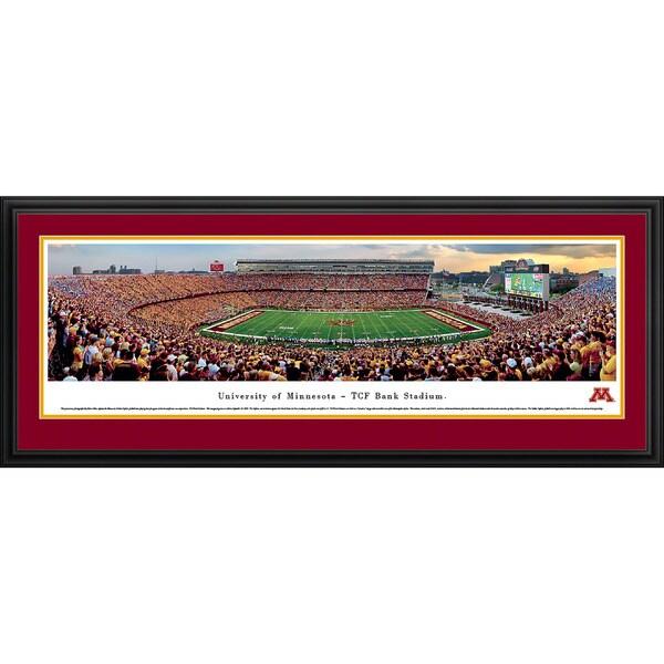 Blakeway Panoramas Minnesota Football Aluminum/Wood Framed Print