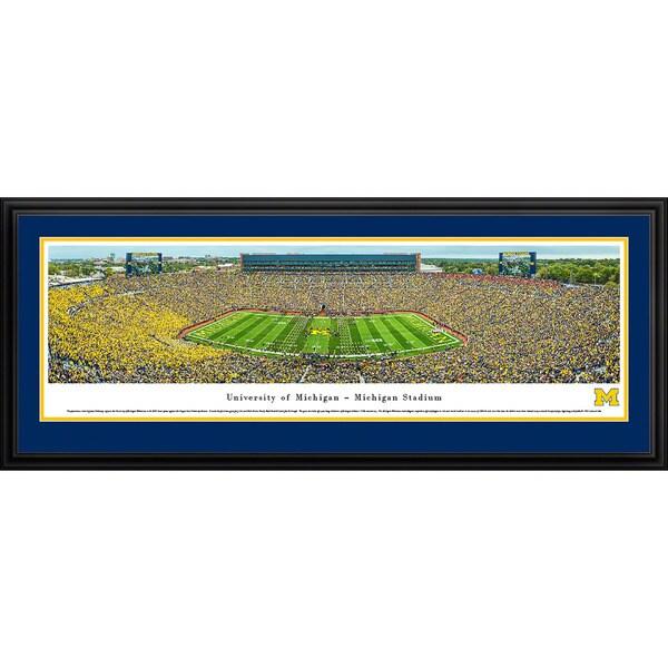 Blakeway Panoramas Michigan Football '50 Yard Line' Framed Print