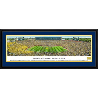 Blakeway Panoramas Michigan Football '50 Yard Line' Framed Print