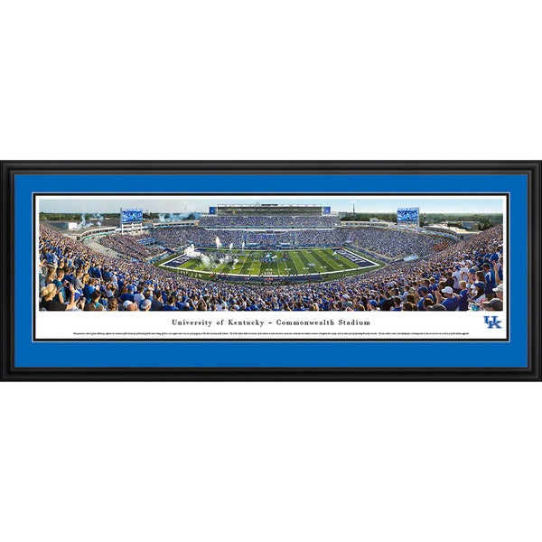 Blakeway Panoramas Kentucky Football Aluminum/Wood Framed Print