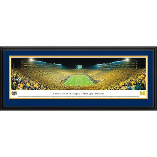 Blakeway Panoramas Michigan Football 'Night - End Zone' Framed Print