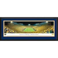 Blakeway Panoramas Michigan Football 'Night - End Zone' Framed Print