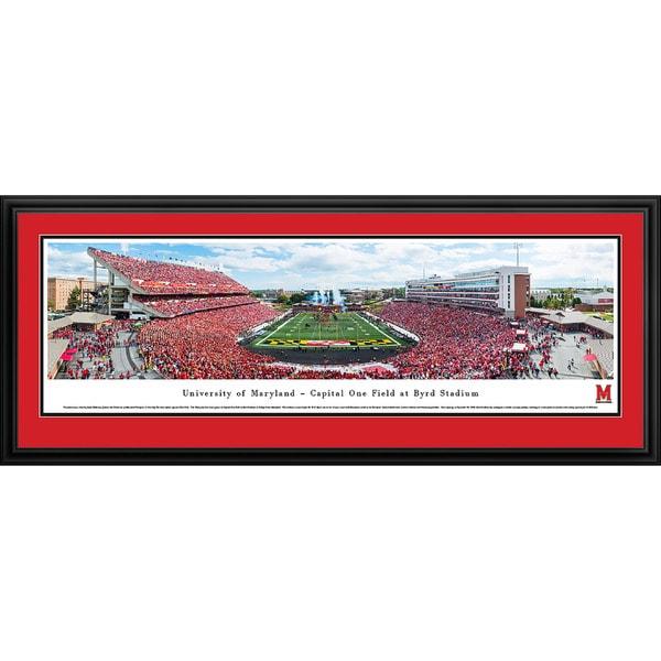 Blakeway Panoramas 'Maryland Football' Framed Print