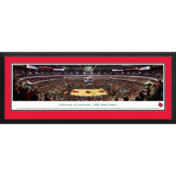Blakeway Panoramas Louisville Basketball Framed Print