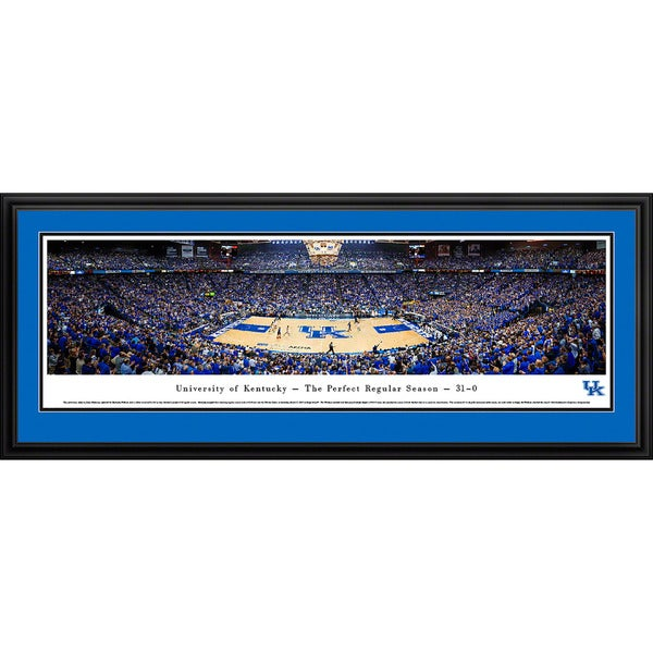 Blakeway Worldwide Panoramas Kentucky Wildcats Basketball Framed Print