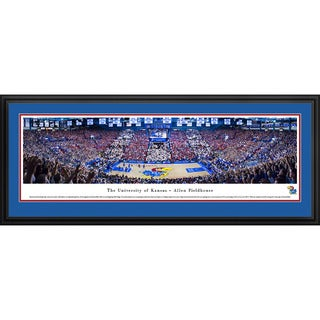 Blakeway Panoramas Kansas City Jayhawks 'Battle Of The Blue' Framed Art