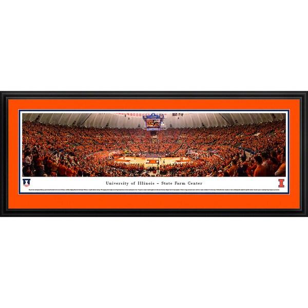 Blakeway Panoramas 'Illinois Basketball' Framed Print