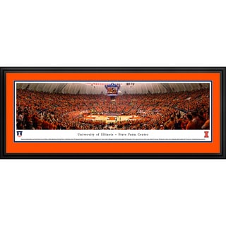 Blakeway Panoramas 'Illinois Basketball' Framed Print