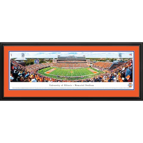 Blakeway Panoramas Illinois Football Framed Print